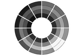 Theory Of Colour - Achromatic Greyscale Scheme