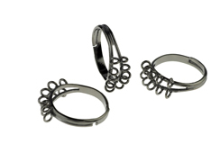 Jewellery Findings - Looped Ring Blanks, Ring Bases, Ring Blanks