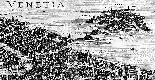 History Of Murano Glass - Engraving Of Venice