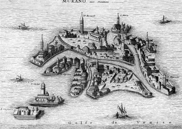 History Of Murano Glass - Engraving Of Murano Island