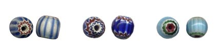 History Of Bead Making - Fake Glass Chevron Beads