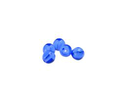 50 Czech Glass Beads Sapphire Blue Druk Bead 6mm