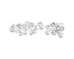 50 Czech Glass Beads Clear Fire Polished Bead 4mm