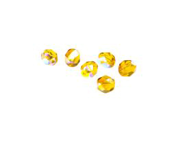 20 Czech Glass Beads Topaz AB Bead 6mm