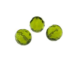 1 Czech Glass Beads Olivine Fire Polish Round 12mm