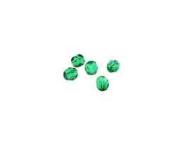 50 Czech Glass Beads Emerald Fire Polish Bead 4mm