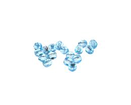 50 Czech Glass Beads Aqua Fire Polished Bead 4mm