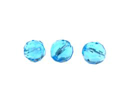 1 Czech Glass Beads Aqua Fire Polished Bead 12mm