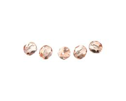 50 Czech Glass Beads Rose Fire Polished Bead 5mm