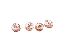 20 Czech Glass Beads Rose Fire Polished Bead 8mm