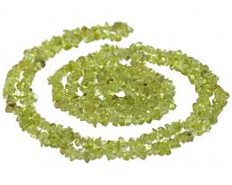 1 Gemstone Beads Peridot Chips 34 Inch String