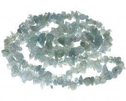 1 Gemstone Chips Aquamarine 6mm to 12mm 36 Inches