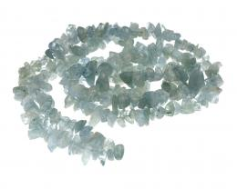 1 Gemstone Chips Aquamarine 5mm to 8mm 16 Inches