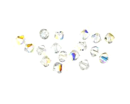 12 Preciosa Crystal Beads Clear Bicone Bead AB 6mm