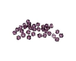 24 Preciosa Crystal Beads Amethyst Bicone Bead 4mm