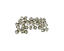 24 Preciosa Crystal Beads Black Diamond Bicones 4mm