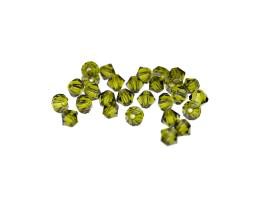 24 Preciosa Crystal Beads Olivine Bicone Bead 4mm