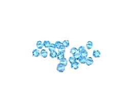 24 Preciosa Crystal Beads Aqua Bicone Bead 4mm