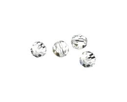 4 Preciosa Crystal Beads Clear Faceted Bead 8mm