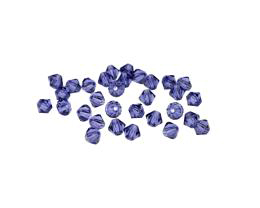 24 Preciosa Crystal Beads Tanzanite Bicones 4mm