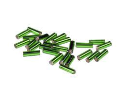 10g Preciosa Bugle Beads Czech Glass Green Size 3