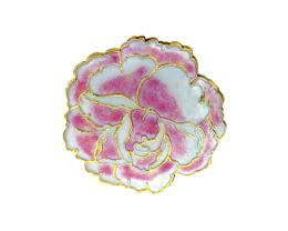 1 Metal Beads Cloisonne Pink Chrysanthemum 35mm
