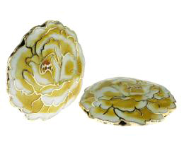 1 Metal Beads Gold Chrysanthemum Cloisonne 35mm
