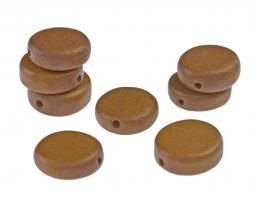 1 Wooden Beads Tan Coloured Discs 15mm