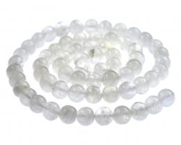 5 Gemstone Beads Rainbow Moonstone Rounds 6mm