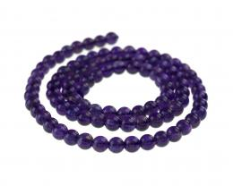 10 Gemstone Beads Amethyst Rounds 4mm
