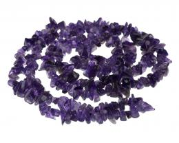 1 Gemstone Chips Amethyst 3mm to 10mm 36 Inches