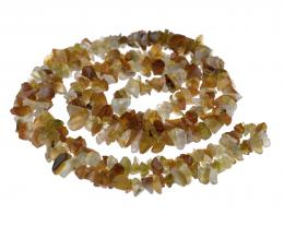 1 Gemstone Chips Carnelian 3mm to 10mm 36 Inches