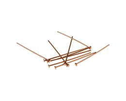10 Head Pins Solid Copper Headpins Domed 25mm