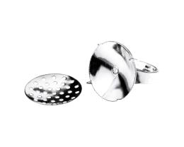 1 Adjustable Ring Blanks Silver Sieve Rings 19mm