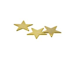 10 Metal Charms Gold Plated Star Charm 17mm