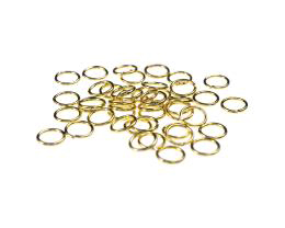 50 Jump Rings Gold Plated Open Jump RIng 6mm
