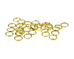 50 Split Rings Gold Plated Jump Ring 8mm