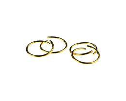 10 Jump Rings Gold Plated Open Jump Ring 18mm