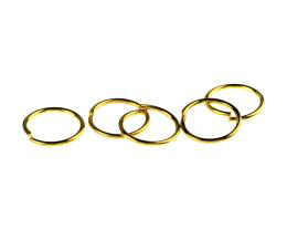 20 Jump Rings Gold Plated Open Jump Ring 14mm