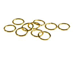 50 Jump Rings Gold Plated Open Jump Ring 10mm