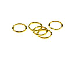 50 Jump Rings Gold Plated Open Jump Ring 12mm
