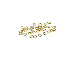 50 Jump Rings Gold Plated Oval Jump Ring 4mm