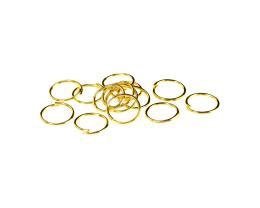 50 Jump Rings Gold Plated Open Jump Ring 9mm