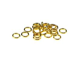 50 Jump Rings Gold Plated Open Jump Ring 7.4mm