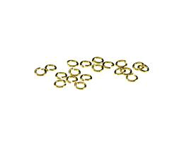 20 Jump Rings Gold Plated Open Jump Ring 4mm