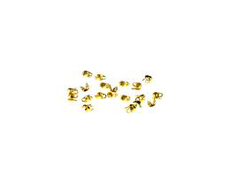20 Calottes Gold Plated Clamshell Bead Tips 4mm