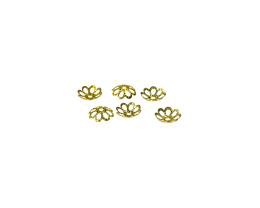 20 Bead Caps Gold Plated Flower Bead Cap 6mm