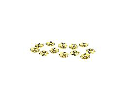 20 Bead Caps Gold Plated Flower Bead Cap 5.5mm