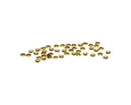 20 Bead Caps Gold Plated Flower Bead Cap 3.5mm