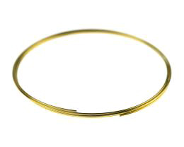 20 Memory Wire Coils Bracelets Gold Colour 55mm